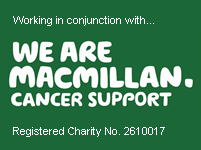 Working in conjunction with We Are Macmillan. Cancer Support Registered Charity No. 2610017